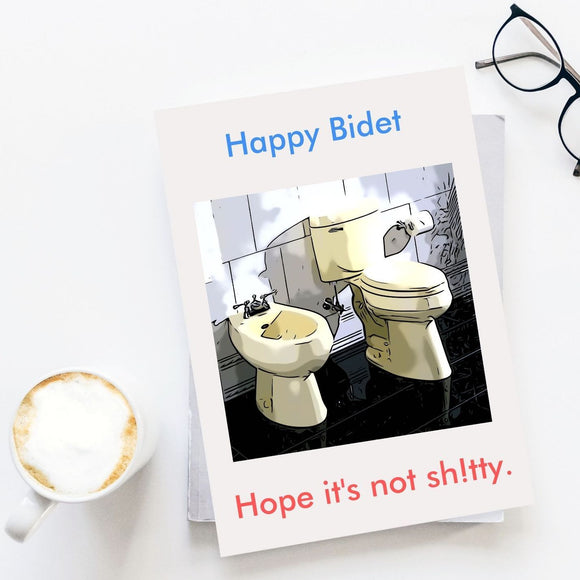 Happy Birthday Card - Bidet Cards Tasteless Greetings
