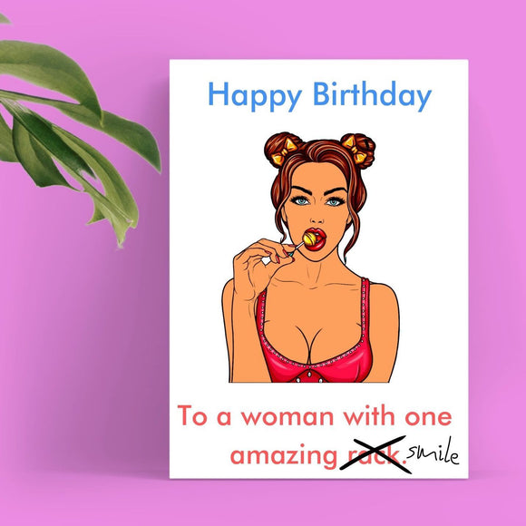 Happy Birthday Card - Nice Rack Cards Tasteless Greetings