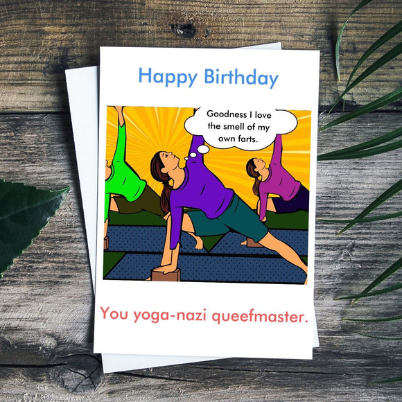Happy Birthday Card - Yoga Snob Cards Tasteless Greetings