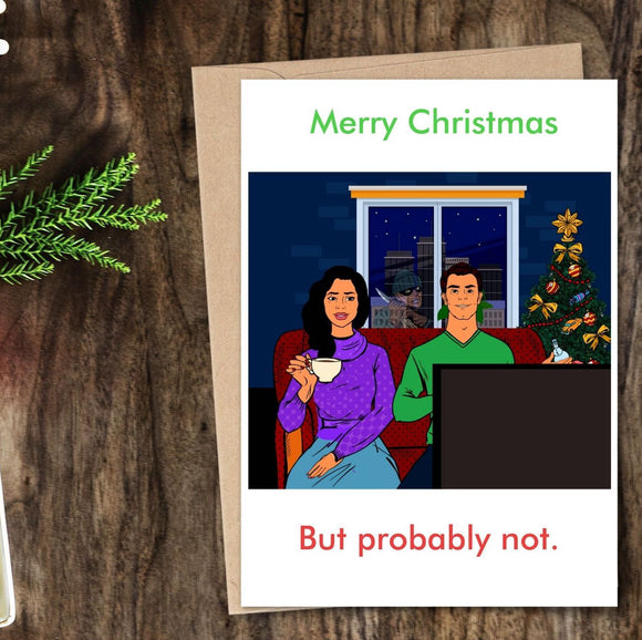 Holiday Card - Stalker - Merry Christmas, But probably not Cards Tasteless Greetings
