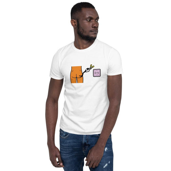 Power Bottom T-shirt Tasteless Greetings White S