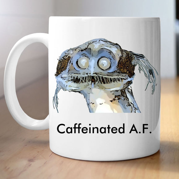 Telescope Fish - Caffeinated A.F. Mug Mugs Tasteless Greetings