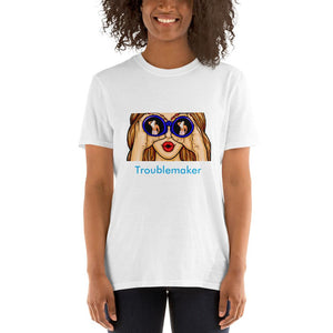 Troublemaker Voyeur Unisex T-Shirt Tasteless Greetings White S