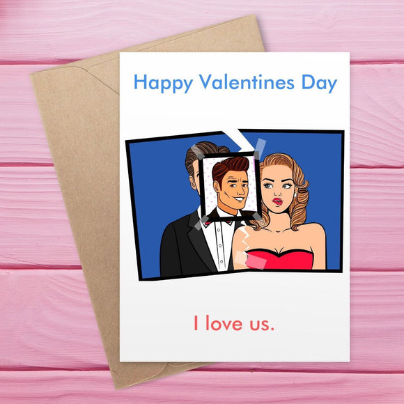 Valentine's Day Card - Male Stalker, I love Us Cards Tasteless Greetings