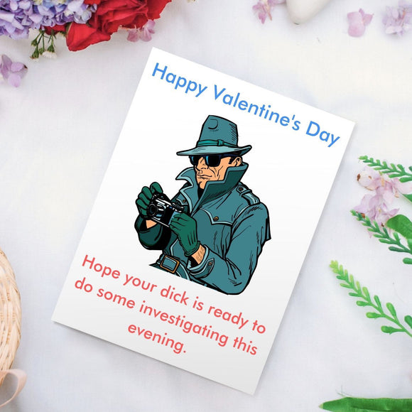 Valentine's Day Card - Private Dick Cards Tasteless Greetings