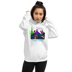 Yoga Snob Unisex Hoodie Tasteless Greetings White S