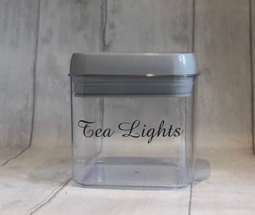 Storage Pot for Tea Lights  - Grey