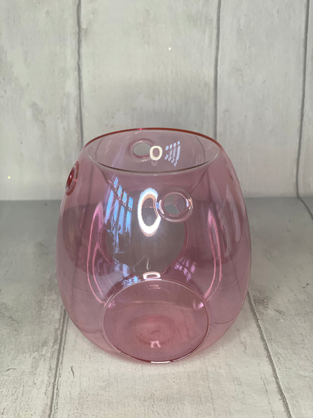 Luxury Pearlescent Glass Burner - Pink