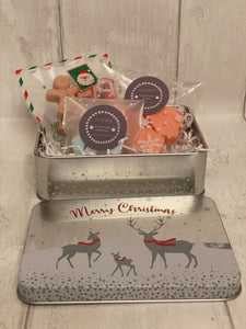 Reindeer Family  - Gift in a Tin