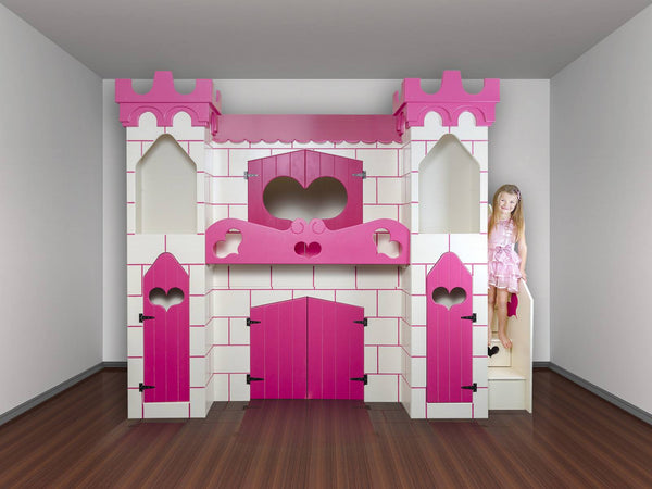 Cozy Castle Bed With Stairs Dreamcraft Furniture