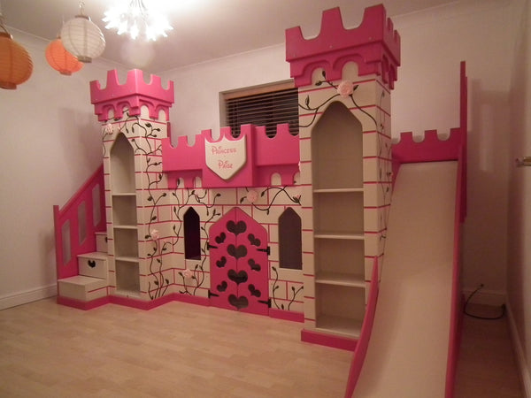 elaborate princess castle bed dreamcraft furniture. Black Bedroom Furniture Sets. Home Design Ideas