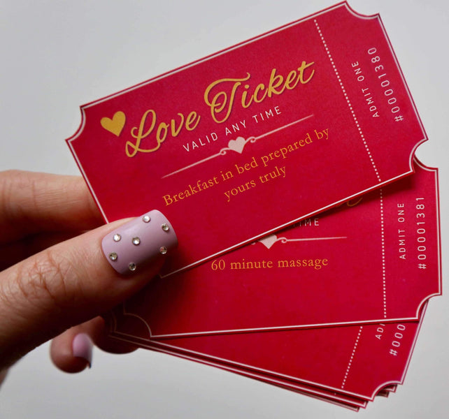Free Printable Love Tickets That Will Make Their Heart Melt