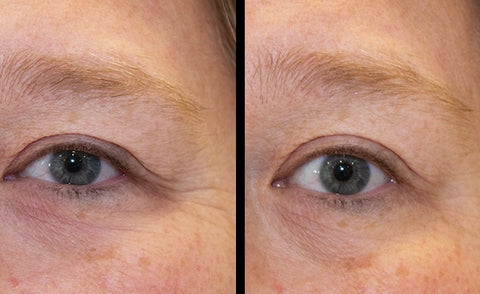 Before and After pictures of Hey Honey's Open Your Eyes. Taken just minutes apart. (Photos have not been retouched.)