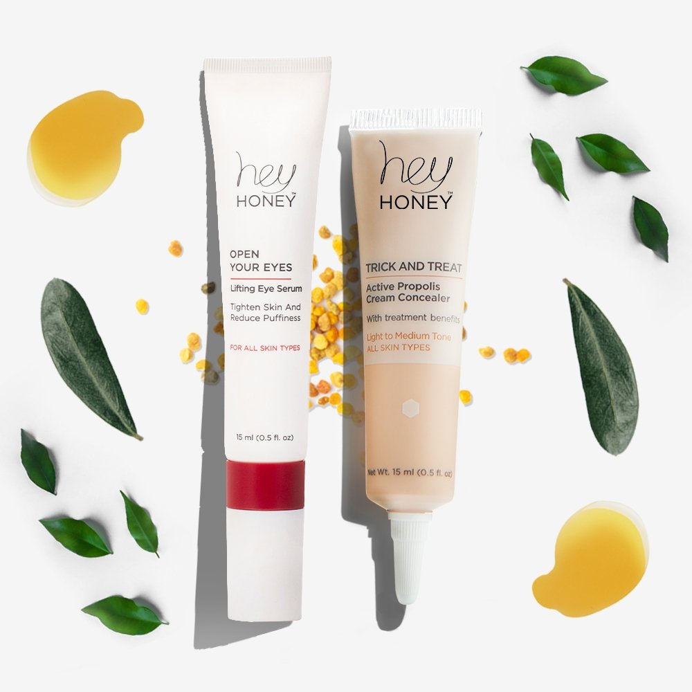 OPEN YOUR EYES DUET - Eye Brightening & Smoothing Set - Hey Honey Skin Care
