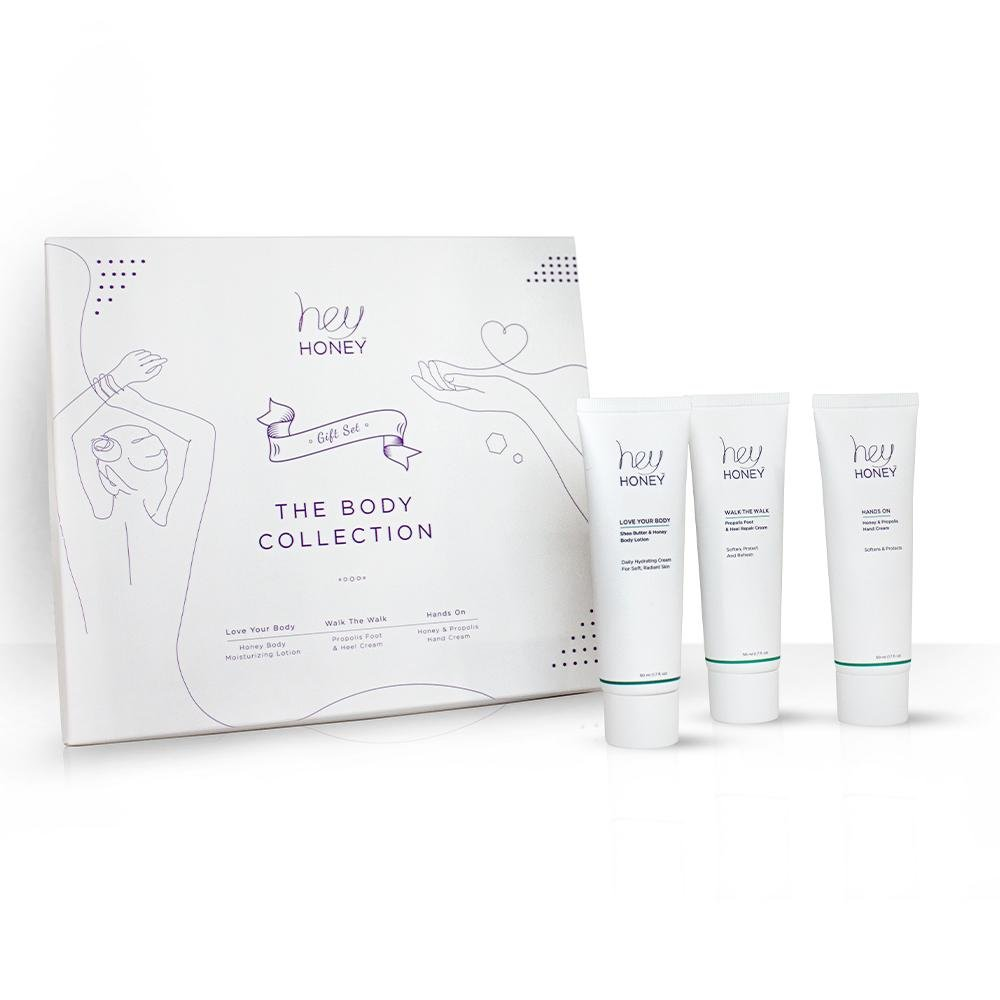 Hey Honey Skin Care body Collection: skincare products for hands, foot and body