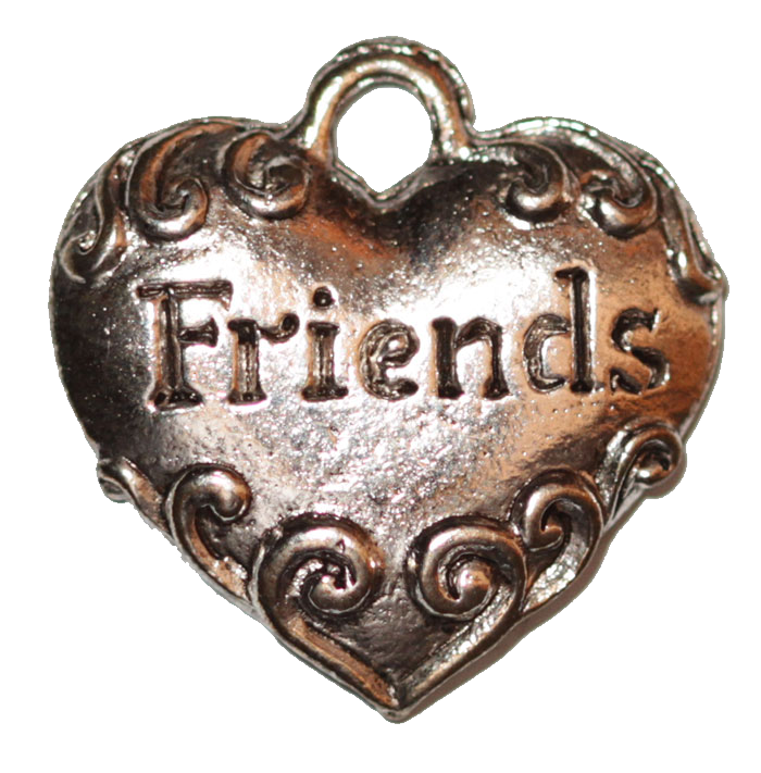 Heart with Friends Engraved - Silver