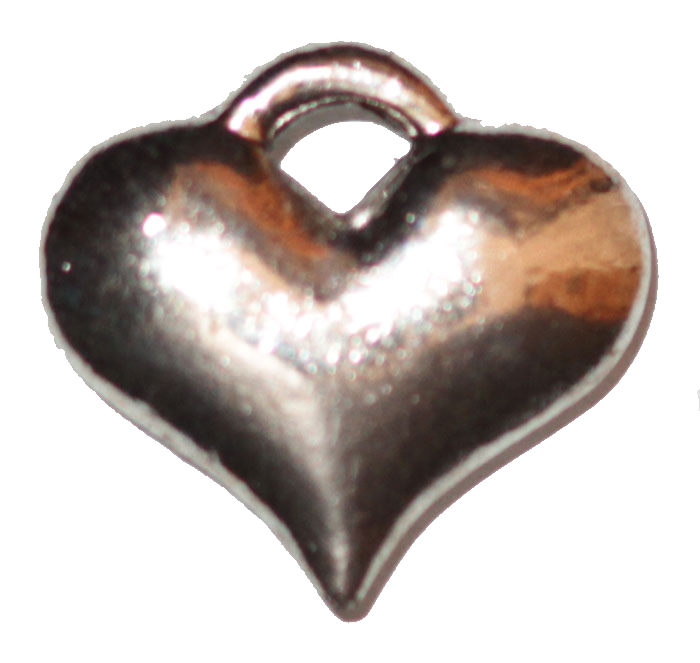 Heart - Puffy - Silver