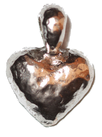 Heart Pendant (Hand Hammered) - Silver