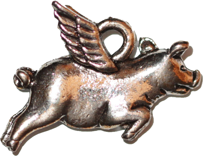Pig with Wings - Silver