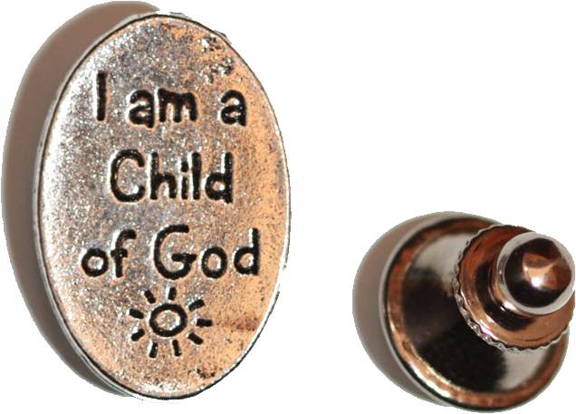 I Am A Child of God - Lapel Pin - Silver