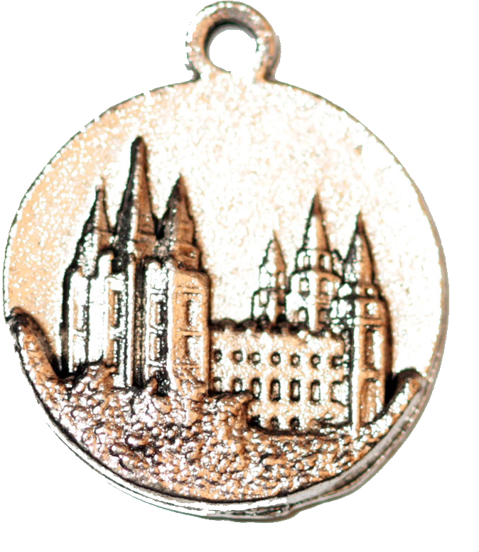 Salt Lake Temple Medallion - Silver