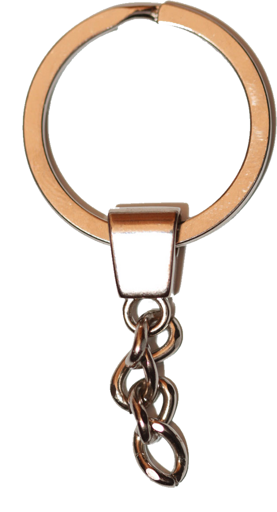 Flat Keyring 30mm With Chain