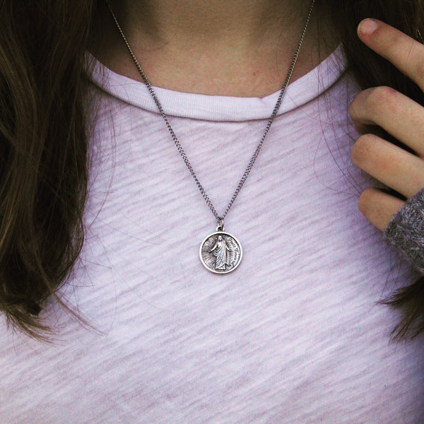 "18"" Press Forward Necklace - Silver"