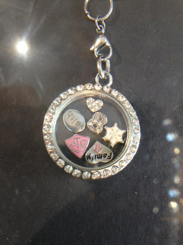 Baptism Magnetic Floating Charm Necklace (with Mini Charms)