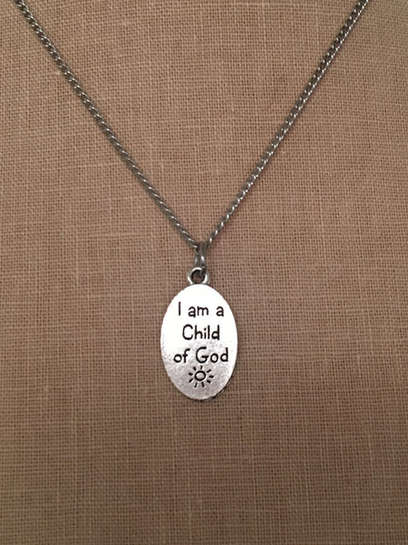 "18"" Baptism Necklace - Silver"