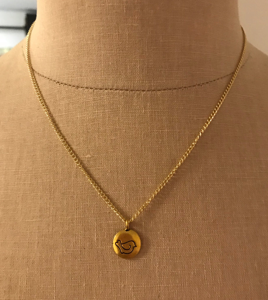 "2018 ""Peace In Me"" Necklace - Gold"