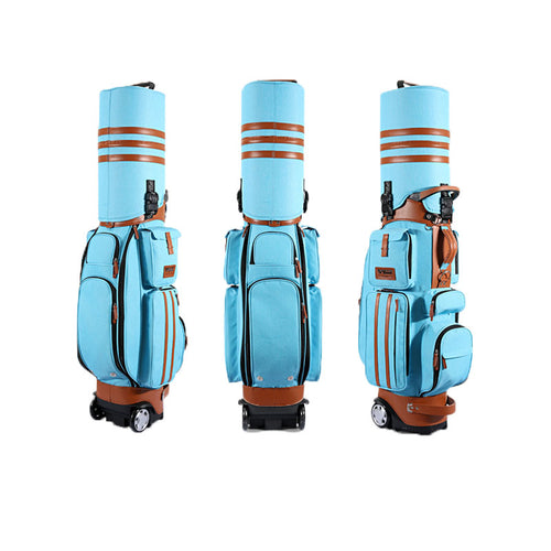 Pgm Multifunctional Golf Standard Ball Bag With Wheels Shell Patent Check Password Lock Air Bag Golf Club Bag Ball Packs D0088