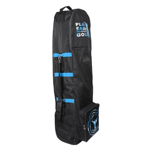 Golf Club Bag Travel Cover Protector Guard Rolling Wheels Dual-Zipper Carrying Case with Top Handle and Shoulder Straps
