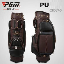 Load image into Gallery viewer, Pgm Genuine Leather Large Capacity Portable Golf Bag Waterproof Retractable Standard Ball Package Support Full Sets Clubs D0740