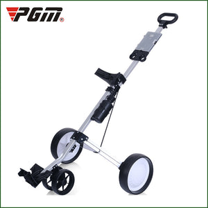 2019 new PGM Golf three-wheeled golf cart light folding bag trolley trolley supplies easy carry and fold