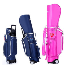 Load image into Gallery viewer, 2019 Retractable Standard Ball Golf Bag With Wheel Big Capacity Travelling Aviation Bag With Cover Hard Nylon D0638