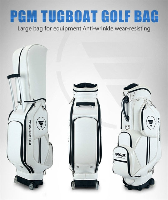 PGM Golf Cart Bag Retractable Standard Ball Package Waterproof Travel Bags Can Hold 14 Clubs With Wheels D0085