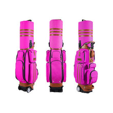 Load image into Gallery viewer, Retractable Golf Bag With Wheels Patent Designed 14 clubs Travelling Aviation Bag With Password Lock