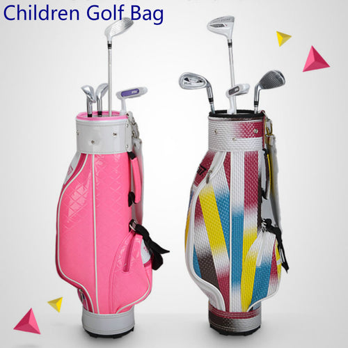Children's Golf Bag 3 sections Nylon Mixcolor, 2 combo colors , Pink and Black