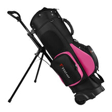 Load image into Gallery viewer, Golf Travel Bag Wheels Golf Rack Tripod Backpack Bag 11-Piece Clubs Standard Ball Travel Trolley Bags D0648