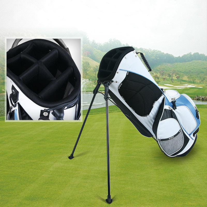 Golf Stand Bag Rack Bag Ultral light design with Shoulder Belt Golf Bag 6 Divisions