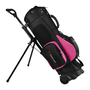 Golf Bag Travel Wheel Standard Stand Golf Cart Bag Professional Golf Set Hold 13 Clubs Standard Ball Travel Trolley Bags D0648