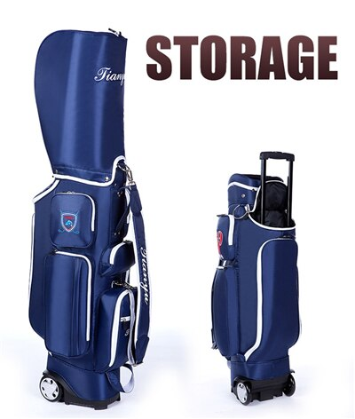 2019 Multifunctional Golf Bag With Wheel Lightweight Standard Golf Bag Travelling Aviation Bag Hard Nylon Package D0638