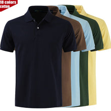 Load image into Gallery viewer, TOP quality Slim Fit Short Sleeve T Shirt Casual Turn Down Collar Men's Cotton Golf Polo Shirts
