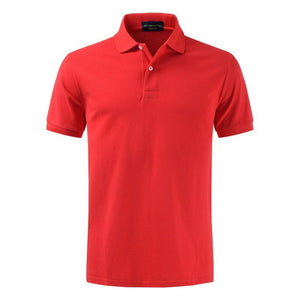 TOP quality Slim Fit Short Sleeve T Shirt Casual Turn Down Collar Men's Cotton Golf Polo Shirts