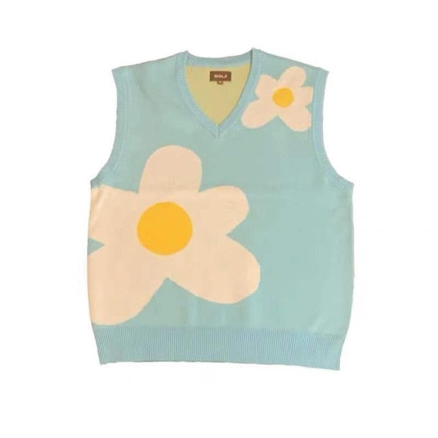 New 2020 men Luxury golf Flower Le Fleur Tyler The Creator Knit Casual Sweaters Vest sleeveless Asian Plug Size High Drake #M12