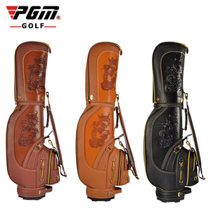 Professional Golf Bag leather waterproof Cart Bag 5 Club sections 14 clubs with Cover 2 types