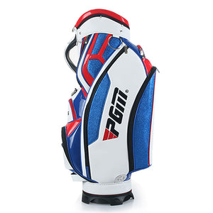 Men's Golf Bag, Standard Bag PU Waterproof can hold Umbrella Blue White Red High-quality