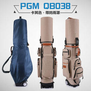 Authentic Brand Multifunctional Golf Standard Bag Wheel Golf Caddy Viation Bag Men Pattern Bracket Ball Package Pulley Golfbag