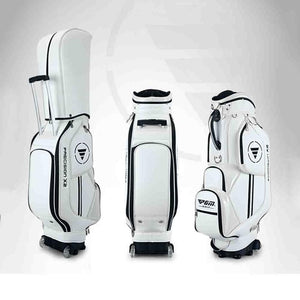 CRESTGOLF New Golf Standard Bag portable Golf package Golf Travel Bag Pu Cover Waterproof Thicken Air Bag With Wheels