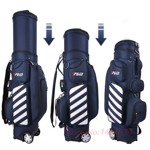PGM Golf Standard Bag Adjustable Men Golf Air Bag Women Telescopic Ball Bag Baldric Pulley Multi-function Cover with Hard Shells